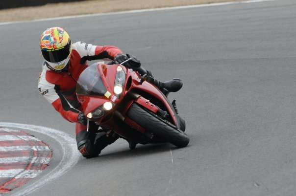 This is me at Brands Hatch with my knee down!